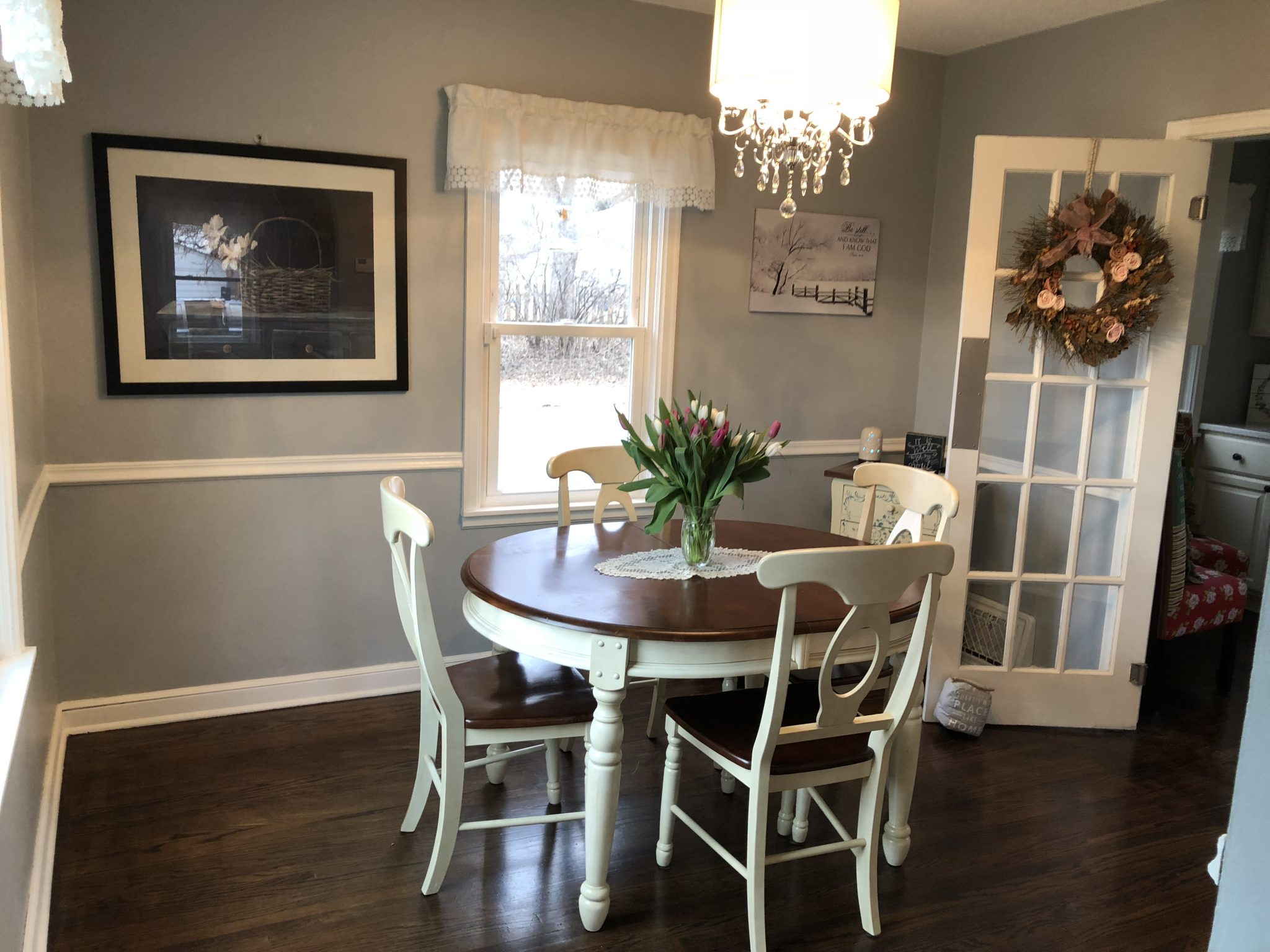 Interior of dining room painted