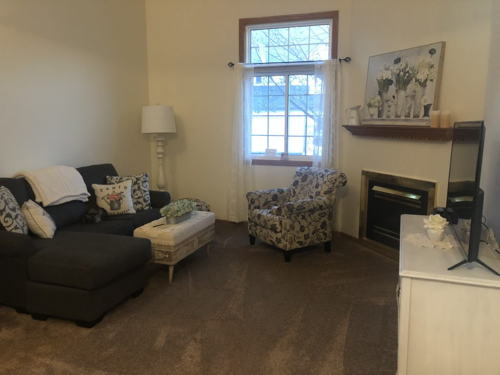 Living room after photo of an interior paint job