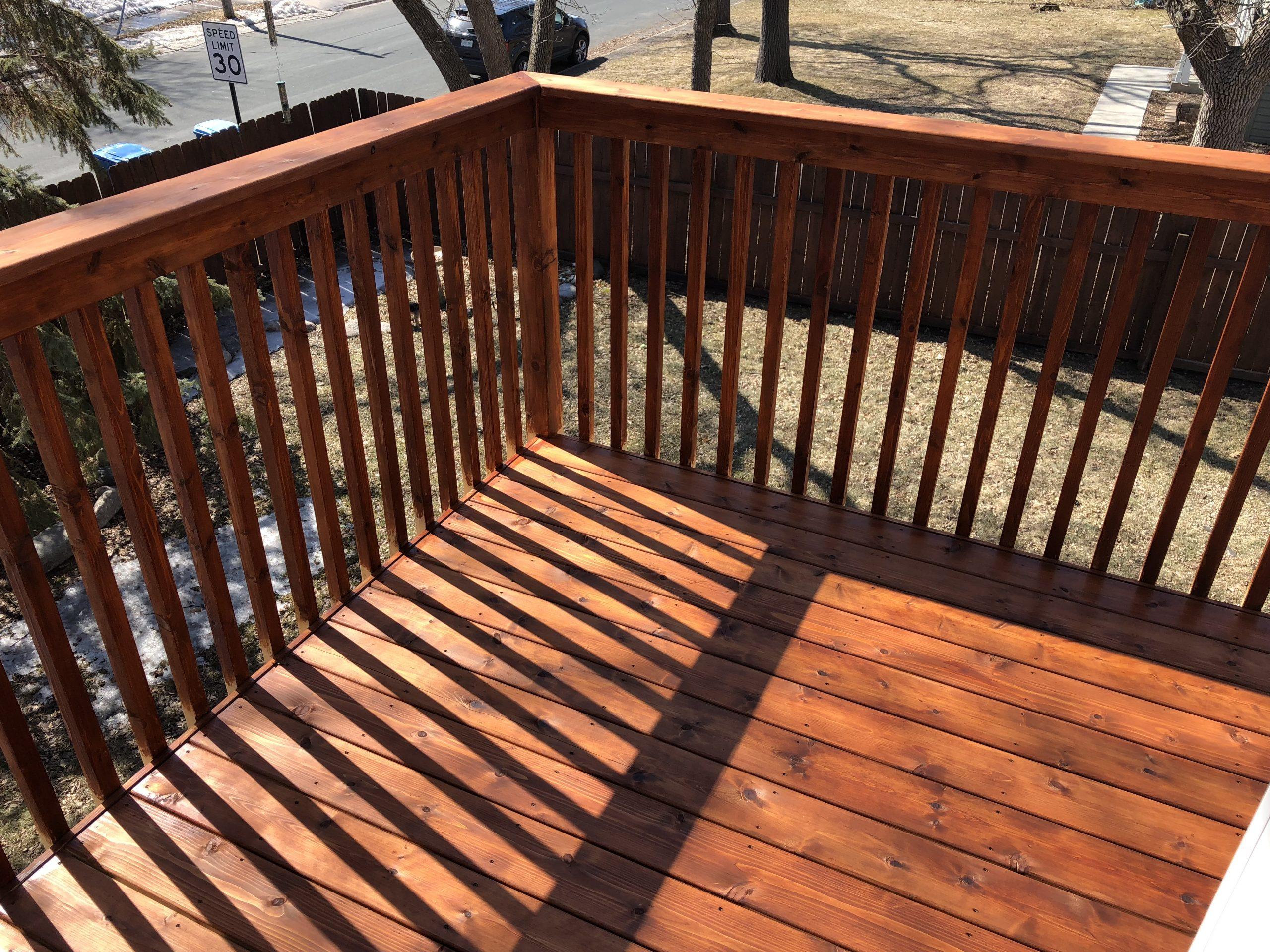 Stained deck in Minneapolis