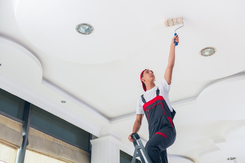 A Ceiling being painted in Eagan