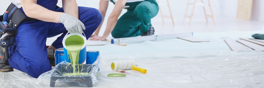 Paint being prepared for interior painting in Lakeville Minnesota