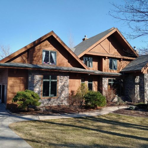 After photo of a finished exterior paint job
