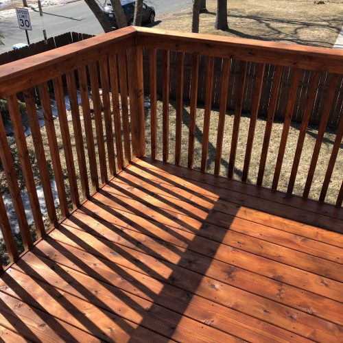 A photo of a stained deck in Minneapolis