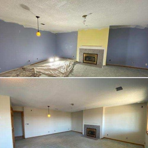 Before and After of interior paint job
